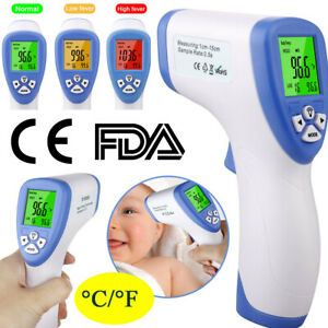 Baby Adult Forehead Thermometer No Contact Infrared Digital Lcd Thermometer Uk Ebay