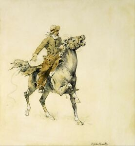 The-Cowboy-by-Frederic-Remington-Giclee-Repro-Canvas