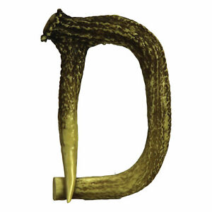 River/'s Edge Products Decorative Antler Letter R Rustic Wall Mounted Decor