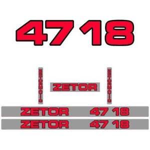 Zetor-4718-tractor-decal-aufkleber-adesivo-sticker-set