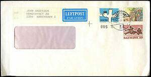 Denmark-1984-Commercial-Air-Mail-Cover-C38774