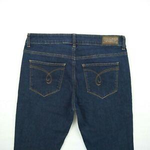 ESPRIT-3-Quarter-Length-Skinny-Blue-Stretch-Denim-Crop-Jeans-Women-039-s-Size-30