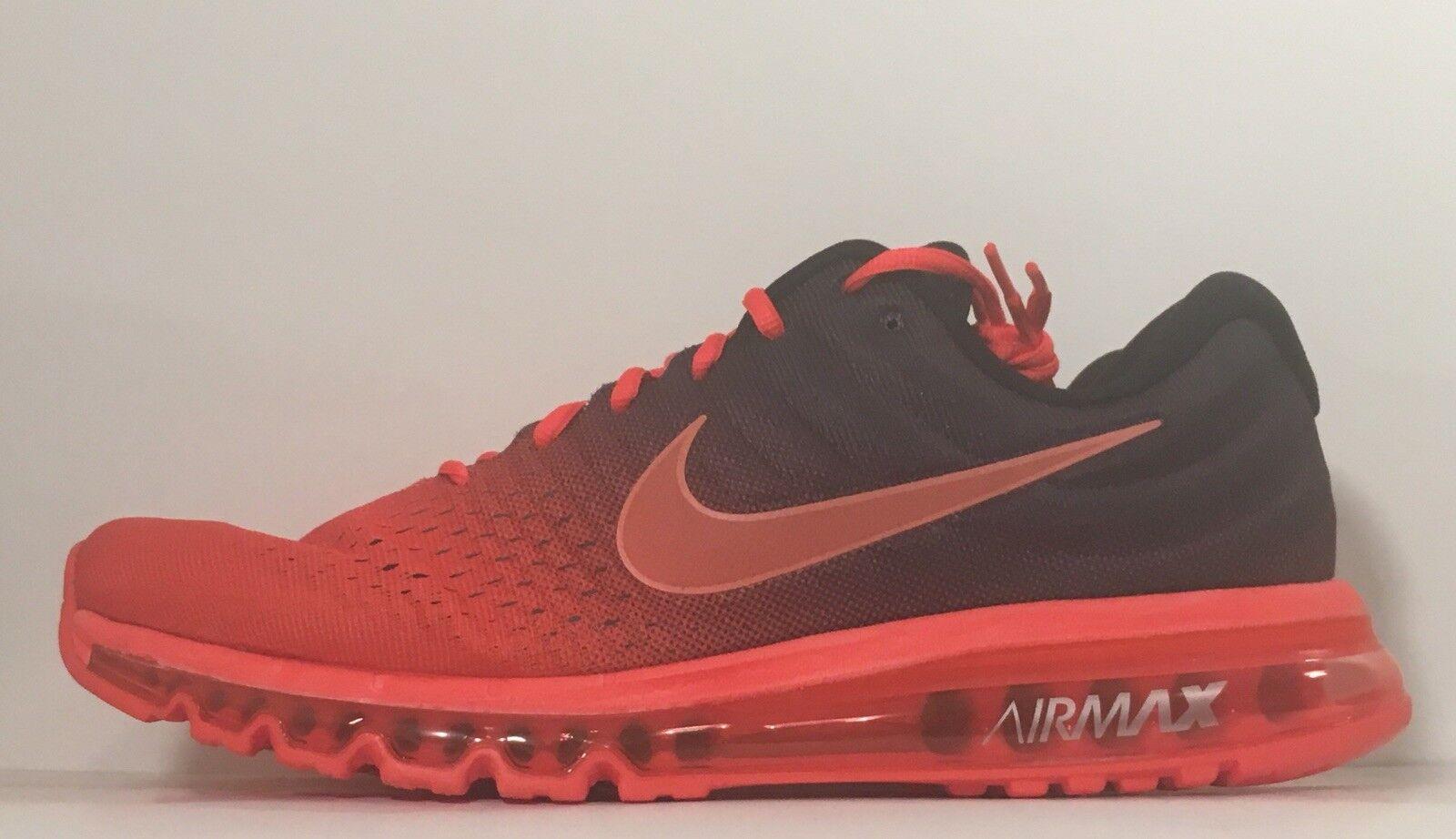 SZ.14 Mens Nike Air Max 2017 849559-600 BrightCrimson