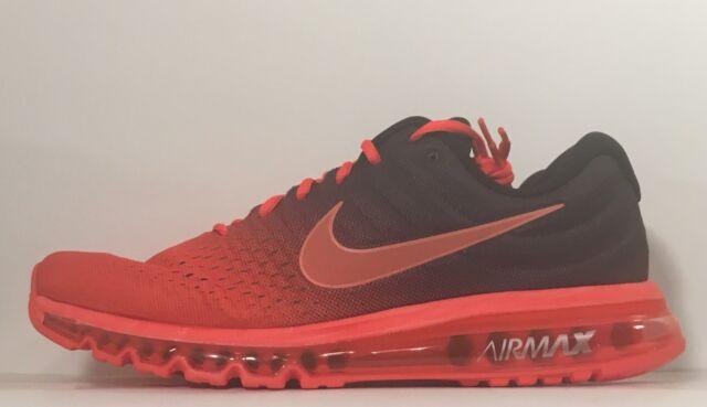 nike men's air max 2017 running shoes-bright crimson
