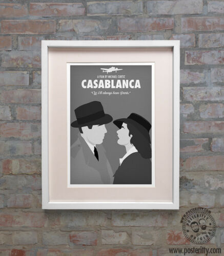 Minimalist Movie Poster Print Posteritty Minimal always have Paris CASABLANCA