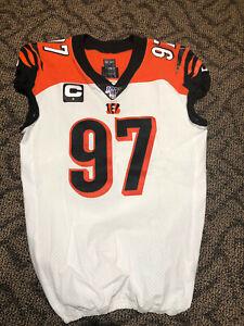 Geno Atkins Juego Usado/firmado Cincinnati Bengals Jersey 12/22/19 ...