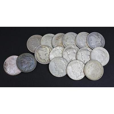 7. Estate Coin LOT 16 US Morgan & Peace Silver Dollar Lot 7