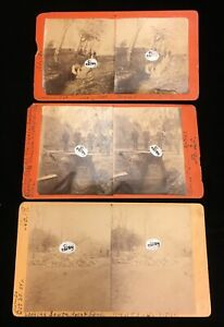 Antique-1886-Stereoviews-by-Female-Woman-Photographer-Jumbo-Artesian-Well-Iowa