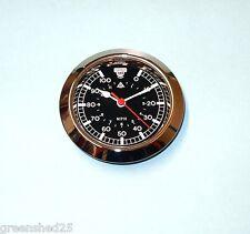 65mm BEZEL Quartz Clock insert movement classic British racing Car  black dial