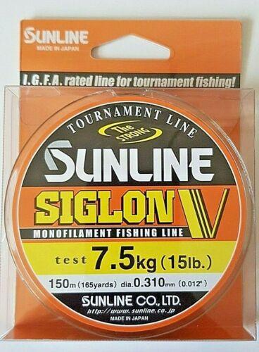 SUNLINE SIGLON V nylon fishing line japan 30m-150m 8lb-20lb