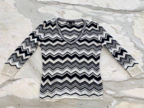 Pullover Chevron Maglione Ivory piccolo in Black Wrights 3 The cotone 4 maniche RwCfFxCEq