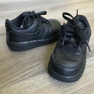 48ae49a7 Details about Toddler Boys Nike 314194-009 Air Force 1 Black Athletic Shoes  Size 6.5C