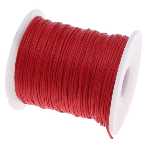 75 m baumwollkordel aspiraran joyas 1mm rojo cera hilo bricolaje c167