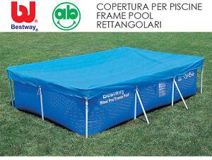 Telo copri-piscina Top copertura protettiva per piscine rettangolari Frame Pool