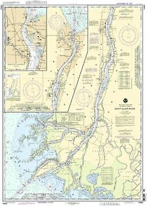 NOAA Chart St. Clair River;Head of St. Clair River 46th Edition 14852