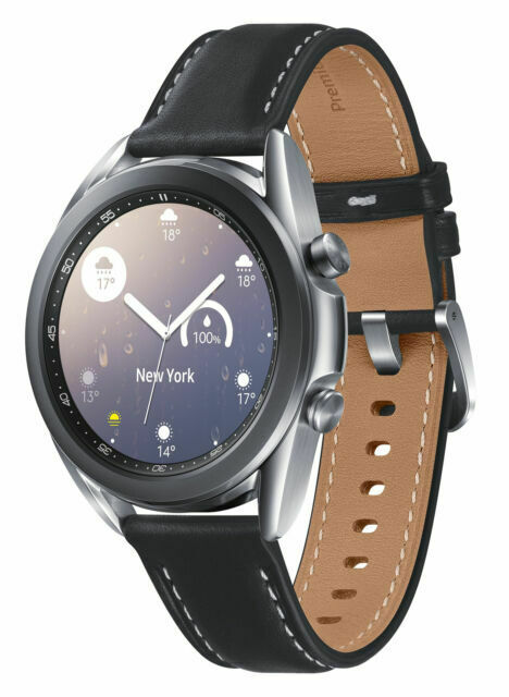Samsung Galaxy Watch3 SM-R850 41mm Mystic Silver Stainless Steel Case With Black - $289.99
