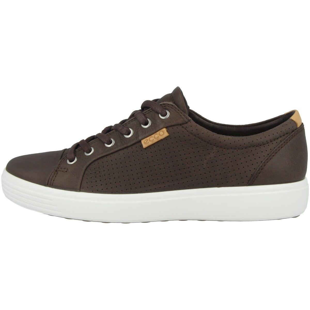 Ecco Soft 7 Men Schuhe Herren Sneaker Halbschuh Leder coffee 430104-02072