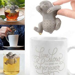 Novelty Sloth Tea Infuser Silicone Leaf Strainer Herbal Spice Filter Diffuser
