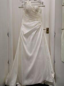 Tiffanys Elizabeth Boda Baile Vestido Marfil Vestido Talla 6 BNWT