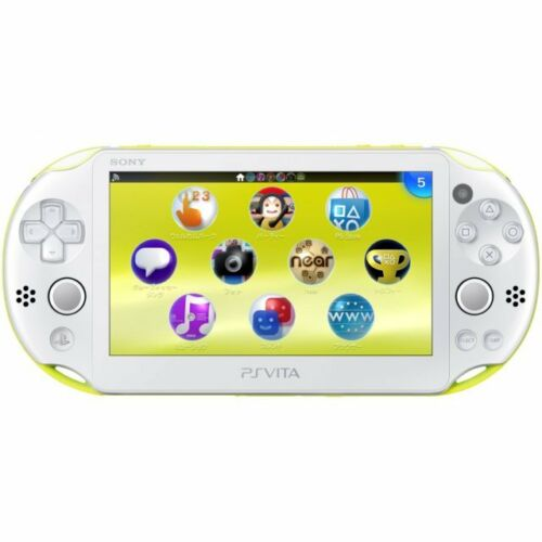 SONY Playstation Vita PSV 2000 WiFi Console Lime Green White CN VGC+Warranty!
