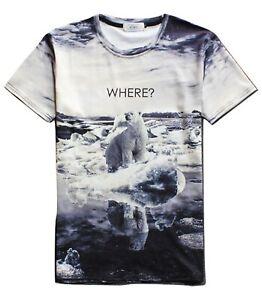 Ours-polaire-ou-T-Shirt-All-Over-3d-Imprime-Drole-ironique-Animal-T-Shirt
