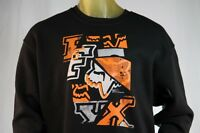Fox Racing Black Graphic Pull-over Hoodless Sweatshirt/hoodie W/ Logo Size Small