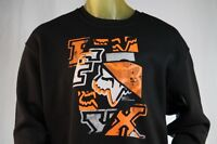 Fox Racing Black Graphic Pull-over Hoodless Sweatshirt/hoodie W/ Logo Size Small