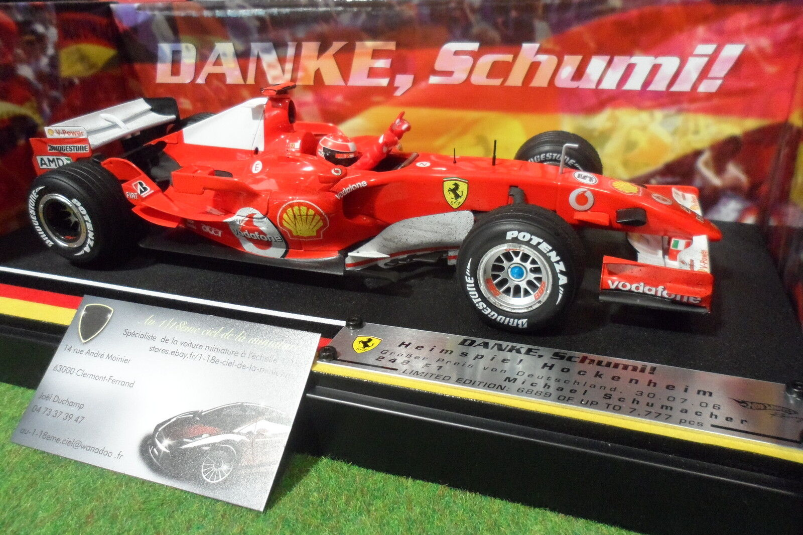migliore vendita FERRARI 248 248 248 F1 2006 SCHUMACHER  5 GP DEUTSCHLe 1 18 caliente ruedaS J2993 formule 1  colorways incredibili