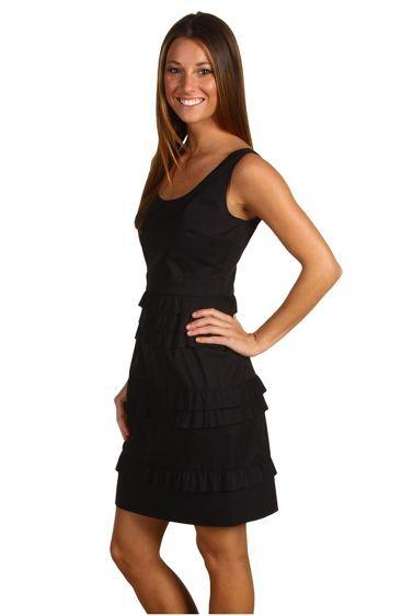 NWT Elie Tahari Katherine Dress schwarz Tierot Skirt  - 2