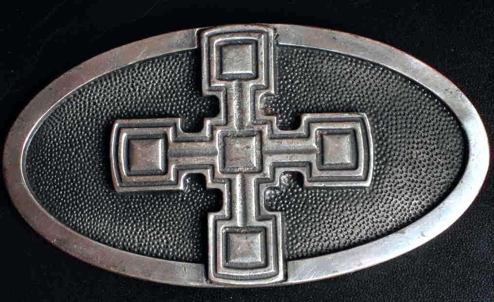 XXL Gürtelschnalle KREUZRITTER Mittelalter KREUZ Celtic KREUZFAHRER Neu MASSIV #