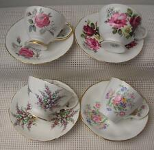 Vintage Lot 4 CHINA TEA CUPS & SAUCERS Delphine Hammersley Rosina Jason England
