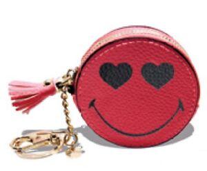 Details zu Trendiger Schlüsselanhänger Taschenanhänger Geldbörse Smiley Rot  von Kalaika