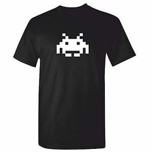 Mens-Space-Invaders-Inspired-T-Shirt-Retro-Tshirt-70s-Old-School-Gamer