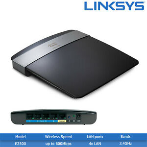 Details about Refurbished Linksys E2500 N600 Dual-Band WiFi Router - 2 4GHz  & 5GHz, 300 Mbps