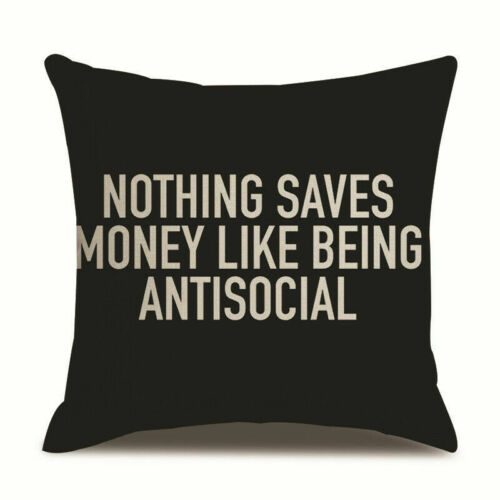 """New Arrival Letter""""fuck""""Cushion Covers Linen Throw Pillow Case Home Decor 18/"""""""