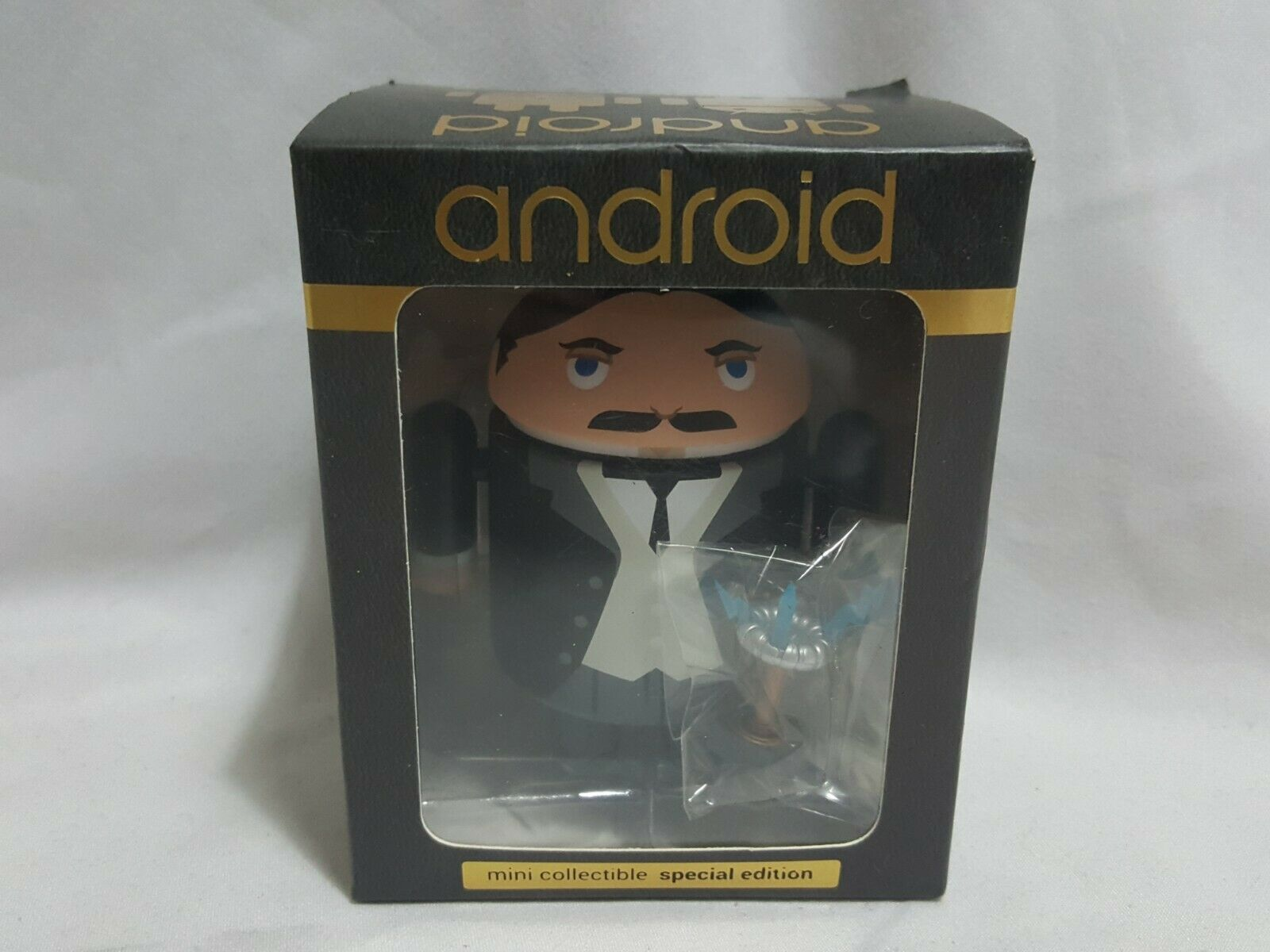 NEW (Read) Android Mini Collectible Special Edition Nikola Tesla Figure Science
