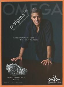 3e3cd1333f6 Image is loading OMEGA-Speedmaster-watch-George-Clooney-Print-Ad