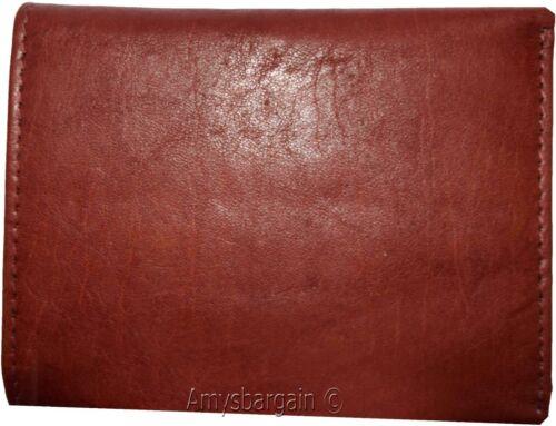 Men/'s Genuine Leather Tri-fold wallet 10 credit debit ATM cards 2 Billfolds 1 ID