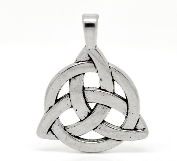 Wholesale HOT! Jewelry Silver Tone Celtic Knot Charm Pendants 35x27mm