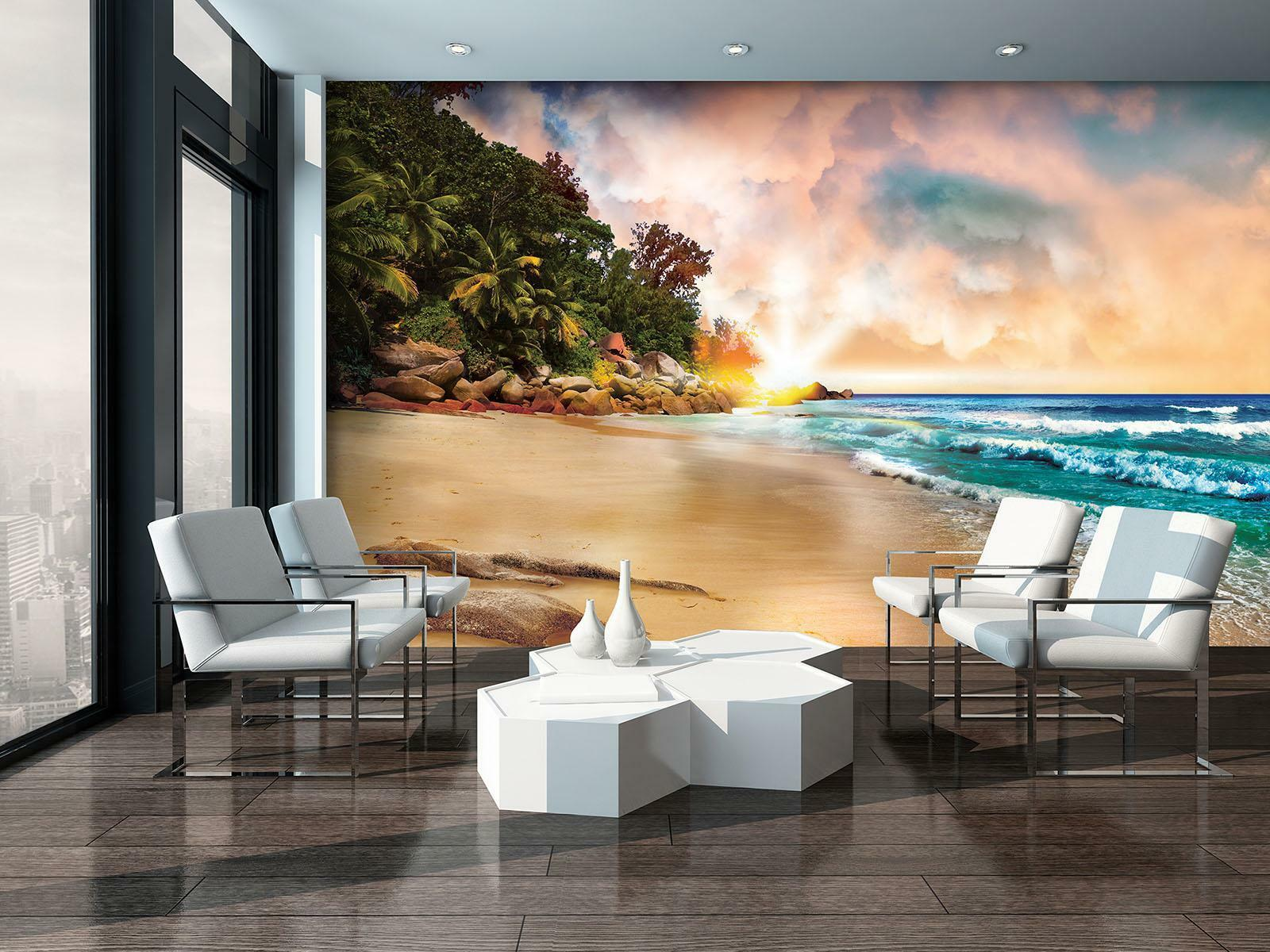 Photo Wallpaper Mural Non-woven 10897_VEN Sunset Beach Sand Landscape Sky Horizo