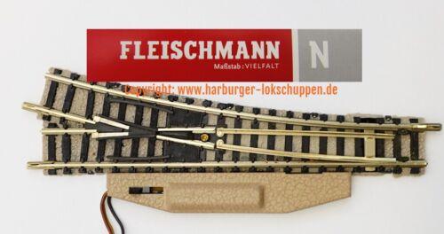 Antrieb helle Bettung Werkstattgeprüft N Fleischmann 9141 9171 Weiche rechts