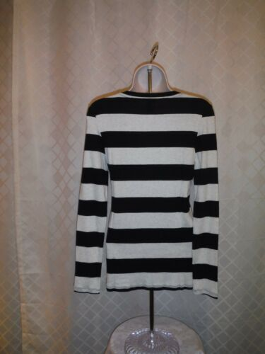 Grey Strip Gap Long Sleeve Stretch Striped T-Shirts XL,L,M,S,XS,Pink,Black,Navy