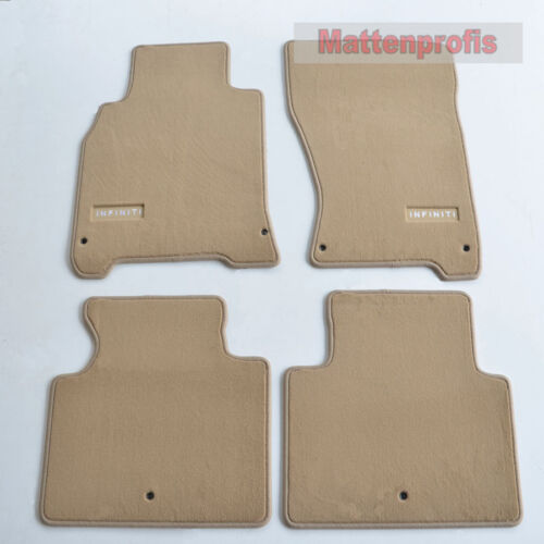 Premium Top Velour Edition beige Fußmatten für Infiniti M Y51 ab Bj 2010 Heute