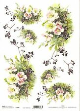 Bouquets Bunch of Flowers A4 ITD R162 Rice Paper for Decoupage Scrapbooking