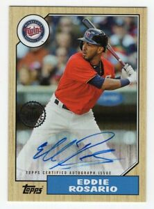 2017-Topps-Update-Eddie-Rosario-1987-30th-Anniversary-Autograph-Card-87A-ERS