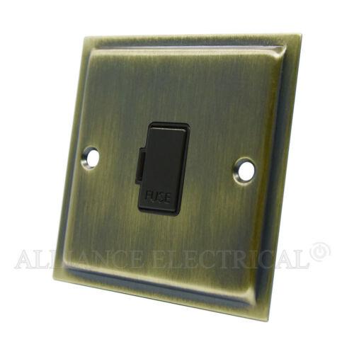 Slimline laiton antique commuté fusible spur 13 amp fusionné connexion unité