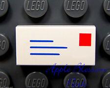 LEGO Love Letter Heart Post Harry Potter 2x Mail Envelope White Tiles 1x2
