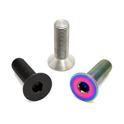 Natural TLC BIKES Primo and Haro Titanium Crank Spindle Bolts Rainbow Black