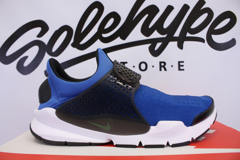 Nike sock dardo kjcrd blue volt jay volt blue stella blu e nero scivolare su 819686 405 sz 10 6abed4