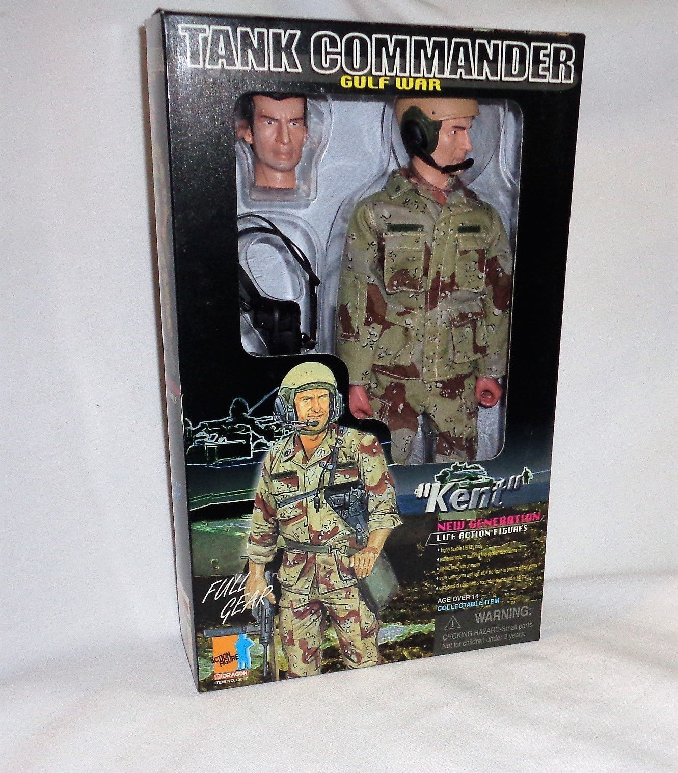 Dragon US Tank Commander Kent Gulf War Iraq 12 Inch 1/6 Scale Doll Figure Boxed
